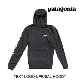 PATAGONIA パタゴニア フーディー TEXT LOGO UPRISAL HOODY BLK BLACK