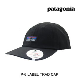 PATAGONIA パタゴニア P-6 ラベル トラッド 帽子 ハット P-6 LABEL TRAD CAP BLK BLACK 38296