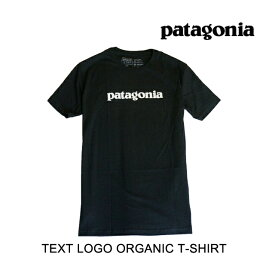 PATAGONIA パタゴニア Tシャツ TEXT LOGO ORGANIC T-SHIRT BLK BLACK