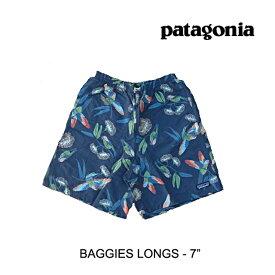 "PATAGONIA パタゴニア バギーズ ロング 7インチ メンズ ショートパンツ BAGGIES LONGS 7"" PABL PARROTS: STONE BLUE"