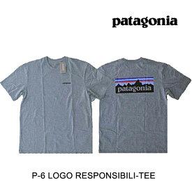 PATAGONIA パタゴニア P-6 ロゴ レスポンシビリティー メンズ Tシャツ P-6 LOGO RESPONSIBILI-TEE GLH GRAVEL HEATHER 39174