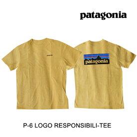 PATAGONIA パタゴニア Tシャツ P-6 LOGO RESPONSIBILI-TEE SUYE SURFBOARD YELLOW
