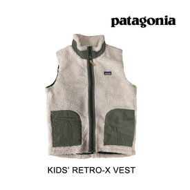 PATAGONIA パタゴニア キッズ レトロ-X ベスト KIDS' RETRO-X VEST NAIB NATURAL W/INK BLACK 子供用 ※サイズ注意 65619