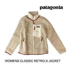 PATAGONIA パタゴニア クラシック レトロX レディース ジャケット WOMEN'S CLASSIC RETRO-X JACKET NAOW NATURAL W/ OYSTER WHITE 23074