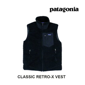 PATAGONIA パタゴニア クラシック レトロX ベスト CLASSIC RETRO-X VEST BOB BLACK W/BLACK 23048
