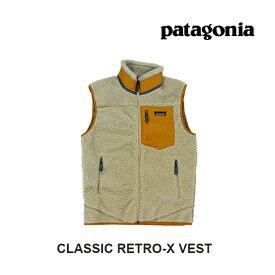 PATAGONIA パタゴニア クラシック レトロX メンズ ベスト CLASSIC RETRO-X VEST PEWG PELICAN W/WREN GOLD 23048