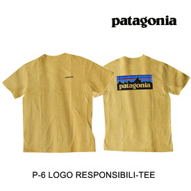 PATAGONIA パタゴニア P-6 ロゴ レスポンシビリティー メンズ Tシャツ P-6 LOGO RESPONSIBILI-TEE SUYE SURFBOARD YELLOW 38504