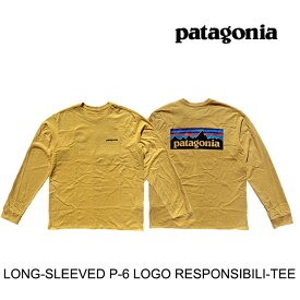PATAGONIA パタゴニア ロングスリーブ P-6 ロゴ レスポンシビリティー メンズ Tシャツ LONG-SLEEVED P-6 LOGO RESPONSIBILI-TEE SUYE SURFBOARD YELLOW 38518