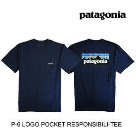 PATAGONIA パタゴニア P-6 ロゴ ポケット レスポンシビリティー Tシャツ P-6 LOGO POCKET RESPONSIBILI-TEE CNY CLASSIC NAVY 38512