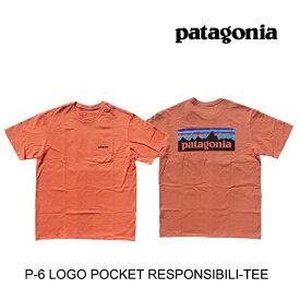 PATAGONIA パタゴニア P-6 ロゴ ポケット レスポンシビリティー Tシャツ P-6 LOGO POCKET RESPONSIBILI-TEE MEMN MELLOW MELON 38512