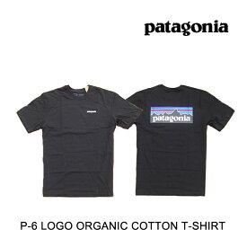 パタゴニア PATAGONIA P-6 ロゴ オーガニック メンズ Tシャツ P-6 LOGO ORGANIC T-SHIRT BLK BLACK 黒 38535