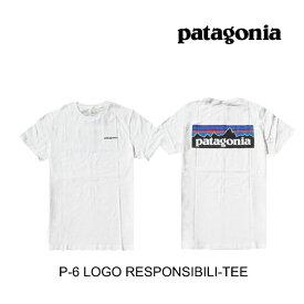 PATAGONIA パタゴニア P-6 ロゴ レスポンシビリティー メンズ Tシャツ P-6 LOGO RESPONSIBILI-TEE WHI WHITE 38504