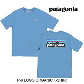 PATAGONIA パタゴニア P-6 ロゴ オーガニック メンズ Tシャツ P-6 LOGO ORGANIC T-SHIRT PGBE PIGEON BLUE 38535