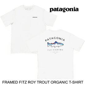 PATAGONIA パタゴニア フレームド フィッツロイ トラウト オーガニック Tシャツ FRAMED FITZ ROY TROUT ORGANIC T-SHIRT WHI WHITE 38529