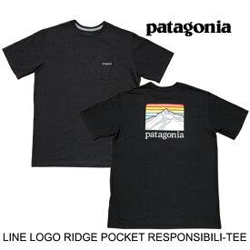 PATAGONIA パタゴニア ライン ロゴ リッジ ポケット レスポンシビリティー Tシャツ LINE LOGO RIDGE POCKET RESPONSIBILI-TEE BLK BLACK 38511