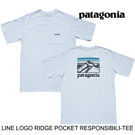 PATAGONIA パタゴニア ライン ロゴ リッジ ポケット レスポンシビリティー Tシャツ LINE LOGO RIDGE POCKET RESPONSIBILI-TEE WHI WHITE 38511
