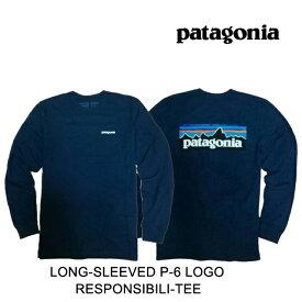 PATAGONIA パタゴニア ロングスリーブ P-6 ロゴ レスポンシビリティー メンズ Tシャツ LONG-SLEEVED P-6 LOGO RESPONSIBILI-TEE CNY CLASSIC NAVY 39161