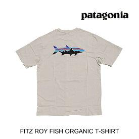PATAGONIA パタゴニア フィッツロイ フィッシュ オーガニック Tシャツ FITZ ROY FISH ORGANIC T-SHIRT PUFT PUMICE W/FITZ ROY TARPON 38525