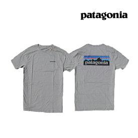 PATAGONIA パタゴニア P-6 ロゴ オーガニック メンズ Tシャツ P-6 LOGO ORGANIC T-SHIRT FEA FEATHER GREY 38535