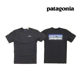 PATAGONIA パタゴニア P-6 ロゴ オーガニック メンズ Tシャツ P-6 LOGO ORGANIC T-SHIRT BLK BLACK 黒 38535