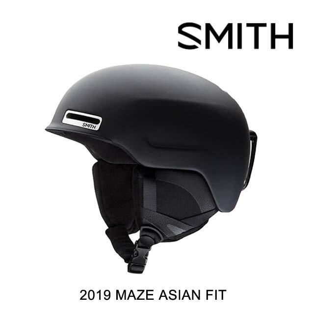 2019 SMITH スミス ヘルメット HELMET MAZE MATTE BLACK ASIAN FIT