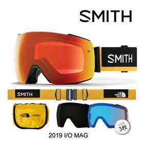 2019 SMITH スミス アイオーマグ ゴーグル I/O MAG GOGGLE AC THE NORTH FACE AUSTIN SMITH スペアレンズ2枚付 CHROMAPOP クロマポップ SUN BLACK + STORM ROSE FLASH + EVERYDAY RED ノースフェイス スノーボード ゴーグル