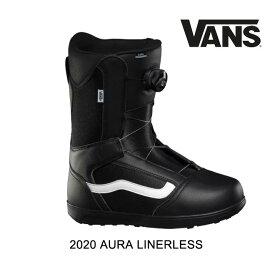2020 VANS ヴァンズ バンズ オーラ ライナーレス AURA LINERLESS - BLACK/WHITE メンズ スノーボード ブーツ MEN'S SNOWBOARD BOOT