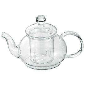 シンプル ティーポット/キッチン用品 【600ml】 耐熱ガラス製 『アサヒ』 〔台所 キッチン〕