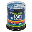Verbatim バーベイタム 1回録画用 ブルーレイディスク BD-R 25GB 100枚 ホワイトプリンタブル 片面1層 1-6倍速 VBR130…