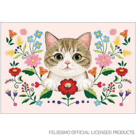 猫部ポストカード 刺繍ピンク C12-PX-127 アクティブコーポレーションより直送 ネコポス可
