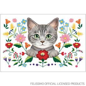猫部ポストカード 刺繍ホワイト C12-PX-130 アクティブコーポレーションより直送 ネコポス可