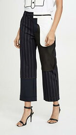 Pinstripe Inside Out Patchwork Pants レディース