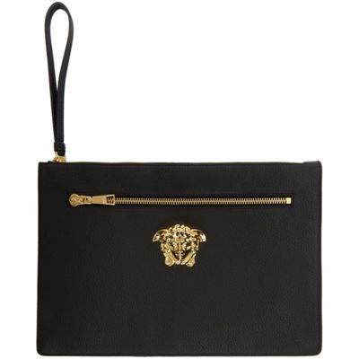 ヴェルサーチ ポーチ Black Large Medusa Zip Pouch