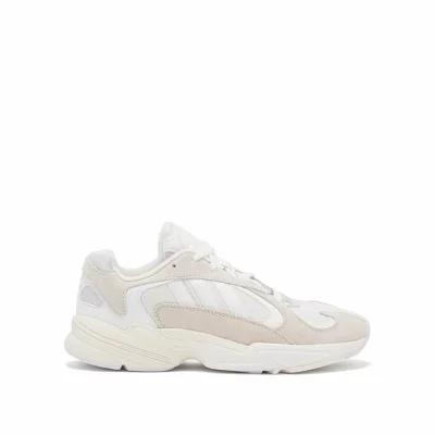 アディダス Adidas Originals スニーカー Yung 1 mesh and suede trainers White