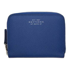 スマイソン Smythson 財布 Blue Panama Zip Coin Purse
