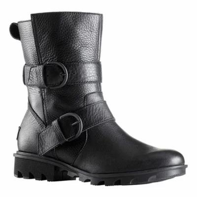 ソレル Sorel ブーツ Phoenix Moto Boot Black Waterproof Full Grain Leather