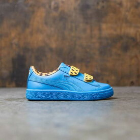 プーマ Puma x Sesame Street Little Kids Basket Mono V - Cookie Monster (blue) ユニセックス