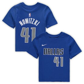 ナイキ Nike Dirk Nowitzki Dallas Mavericks Preschool Blue Name & Number T-Shirt キッズ