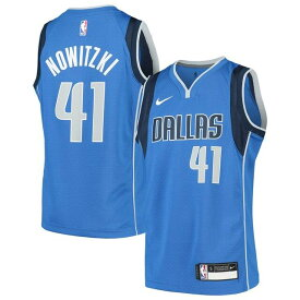 ナイキ Nike Dirk Nowitzki Dallas Mavericks Youth Blue Swingman Jersey Icon Edition キッズ
