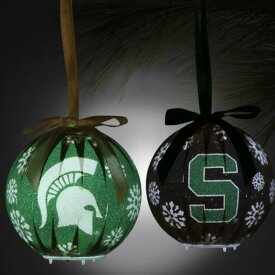 Michigan State Spartans 6-Piece LED Boxed Ornament Set - Green ユニセックス