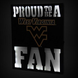 West Virginia Mountaineers 12 x 15 LED Metal Wall Decor ユニセックス