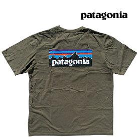 PATAGONIA パタゴニア P-6 ロゴ オーガニック メンズ Tシャツ P-6 LOGO ORGANIC T-SHIRT BSNG BASIN GREEN 38535