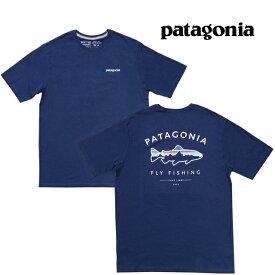 PATAGONIA パタゴニア フレームド フィッツロイ トラウト オーガニック Tシャツ FRAMED FITZ ROY TROUT ORGANIC T-SHIRT CNY CLASSIC NAVY 38529