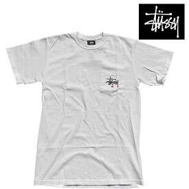 STUSSY ステューシー ポケット ピッグ ダイド Tシャツ STUSSY C. PKT PIG. DYED TEE NATURAL 1944733
