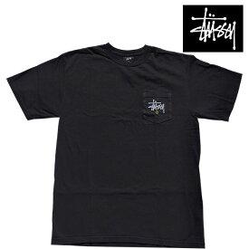 STUSSY ステューシー ポケット ピッグ ダイド Tシャツ STUSSY C. PKT PIG. DYED TEE BLACK 1944733