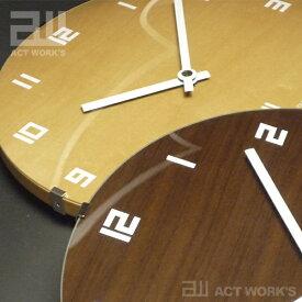《全2色》ドームクロック 電波時計 actwork's 【シンプル デザイン雑貨 壁掛け時計 ウォールクロック アクトワークス モダン インテアリア 北欧】