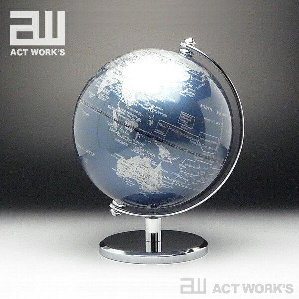 《全7色》act work's インテリア地球儀 globe(S)13cm【アクトワークス デザイン雑貨 レトロ モダン インテリア オフィス 北欧 リビング】