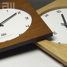 《全2色》スクエアクロック 電波時計 actwork's 【シンプル デザイン雑貨 壁掛け時計 ウォールクロック アクトワークス モダン インテアリア 北欧】