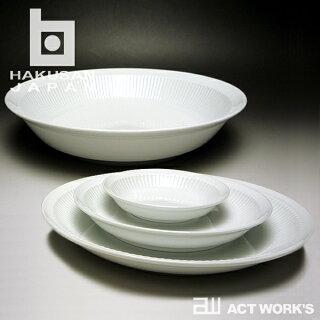 白山陶器よしず彫盛鉢26×26×5.5cm