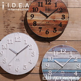 《全3色》BRUNO 電波ビンテージウッドクロック ブルーノ 【IDEA イデアレーベル 壁時計 壁掛け時計 デザイン雑貨 寝室 リビング インテリア 北欧】